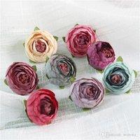 ミニの人工茶ローズの芽小さな牡丹の椿フローレースの花の頭部の装飾のためのDiyクラフトギフト