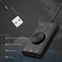 ORICO Portable USB ESTERNO SCHEDA AUSIONE MICROFONO Auricolare auricolare a due in-one con adattatore per computer per PC per laptop a 3 porte1