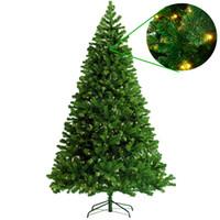 led Işıklar Tatil Evi Dekorasyon kar Floklu Yılbaşı Ağacı Dekorasyon hediyesi yılbaşı Yeşil Ağacı ile Sıcak 2020 Yapay Noel Ağaçları
