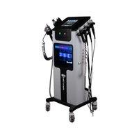 8 en 1 chorro de oxígeno máquina cáscara aqua HydraFacial microdermebrasion rejuvenecimiento de la piel crio herramientas de la belleza facial y de elevación ojo