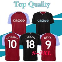 16-XXXL GREALISH soccer jerseys 2020 2021 home away WESLEY KODJA EL GHAZI CHESTER McGinn TARGETT Men Kids kit set football shirts