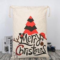Sac à sants de Noël de toile Nouvelle arrivée Santa Claus Sac de Noël Sacs cadeaux Noël Sacs de Noël à stocker HWWE2709