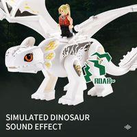 Quebra-cabeça Monte Dragão Dragão Dinossauro Blocos de Construção Simulados Dinossauros Figuras Mundiais de Ação Tijolos Kids Boy Novelty Brinquedos