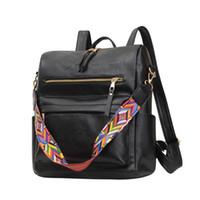 Bolsas de mochila para mujer de cuero PU 2021 Nuevas mochilas de lujo de lujo Diseñadores Mujer Viajes Compras Mochila Bolsas