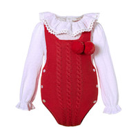 Pettigirl Baby Boy Rompers White Shirt Red Sweater Baby Girl...