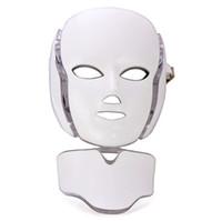 라이트 테라피 LED 얼굴 및 목 피부 회춘에 대 한 7 광자 색상이있는 얼굴 마스크 Microcurrent 개인 가정용으로 LED 페이스 마스크