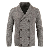 Casual Style Pullover Herbst Winter Mode Lose Einfache Designer Heißer Verkauf Revers Double Breasted Langarm Strick Cardigan