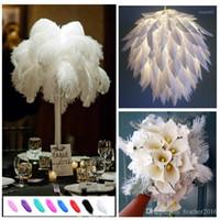 14-16 дюймов страуса перья перьев для свадебных центральных столешних вечеринка настольные украшения красивые перья DIY партия декоративные1