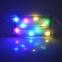 Mascarillas diseñador de LED se encienden Navidad de Halloween colorido luminoso LED Máscara de baile del club nocturno decoración de Halloween que brilla RRA3652 Máscara