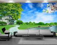 Personalizado paisagem 3D Wallpaper Modern Mural 3d Wallpaper Scenic Villa Sala Quarto TV fundo Papel de Parede Parede