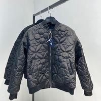 мужчина дизайнеров одежды цветок вышивка балахон пальто куртки мужские зимние пальто мужчин дизайнеры свитера мужчин одежда черный