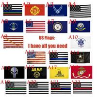 USA-Flaggen US Army Banner Airforce Marine Corp Marine Besty Ross-Flagge treten nicht auf mir Flaggen Thin Line Flag ZZA