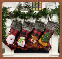 Weihnachtsstrümpfe Dekor Weihnachtsbaum Ornament Partydekoration Weihnachtsweihnachtsstrumpf Süßigkeit Socken Taschen Weihnachtsgeschenke Tasche 21