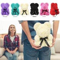 25 cm Yaratıcı Köpük Gül Teddy Bear Yapay Çiçek Gül Ayı Noel Partisi Dekorasyon Sevgililer'in Hediyeler Malzemeleri FY4440