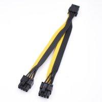 10 шт. / Лот PCI-E PCI Express Graphics Video Card GPU VGA 8 PIN-код Женщина для двойного 8Pin (6 + 2) PIN-код Мужской разветвитель Усилительное кабель1
