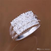 Кольцо Красиво Китай Целые Алмазные ювелирные изделия костюма 925 стерлингового серебра женщин масонский Любовь Серебро Обручальные кольца