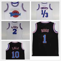 Jovem Crianças Sintoniza Esquadrão Espaço Jam Filme Jersey 1 Bugs Bunny 2 Daffy Pato 1 3 Tweety Pássaro 10 Lola Bunny Basketball jerseys