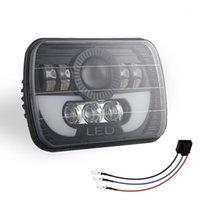 Lámpara de luz de cabeza de haz sellada de 300W 5x7 LED con luz de luz de cabeza con alta luz de cabeza baja para Wrangler YJ XJ1