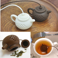 Forma de tetera de silicona Filtro de té de limpieza de forma segura Infusor Reutilizable Té Café Strainer Fugas de té Accesorios de cocina GH1254