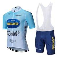 Yarış Setleri Mavi Delko Bisiklet Giyim Takım Jersey Giymek Bisiklet Şort Hızlı Kuru Bisiklet Erkekler Yaz Pro Bisiklet Formaları 20D Pantolon
