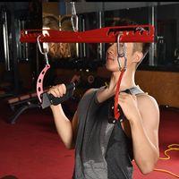 Aksesuarlar Yüksek Düşük Kasnak Kablo Ekleri Ev Gym Lat Çek Aşağı Çubuk Biceps Triceps Geri Kas Blaster Spor Kürek Egzersiz Kolu