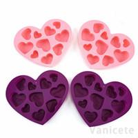 Кремниевые шоколадные формы формы сердца английские буквы писем торт шоколадная плесень силиконовые льда лоток жели формы мыло плесень 120 шт. T1i3500