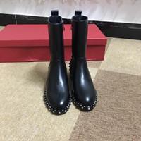 Piel Nieve barato Invierno Mujeres Australia Classic arrodillarse medio a largo botines Negro gris castaño de color azul marino de café rojo para mujer fgc19082202