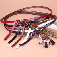 tassel female belt Knotted wedding belts genuine leather dec...