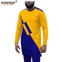 Дасики Мужчины трекиистки 2 шт Африканские рубашки и брюки Анкары костюмы плюс размер беседа одежда носить афроиприд A1916057 201128