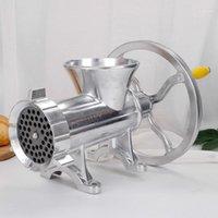 12 # Hand Kurbel Fleisch Mühle Slicer Manuelle Wurststufel Füller Maschine Mincer Aluminiumlegierung Nudel Messer Nut Miller Chopper1