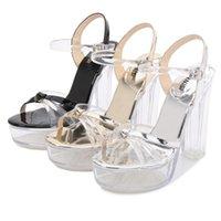 Sandali Odinokov Transparent PVC Donne Chiaro Platform Crystal High Heel Stiletti Sexy Pompe Summer Shoes Peep Toe