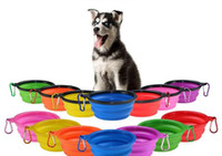 Schnalle outdoor dog collapsible container schüsseln tragbare fütterung mit haustier klettern sise dog reisen welpen schüsseln pet bood food dhe154 sqcsn