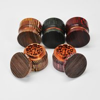 68 mm Grinder Herb Grinder 4 layers Solid wood aluminum alloy grinders Gift box metal grass grinder Grinders free shipping