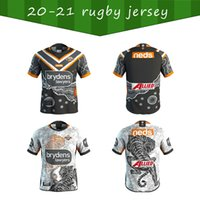 2020 2021 Tigres occidentales Nice Rugby Jerseys Camisetas 20 21 Australia Rugby Wests Tigers Mens West Tiger Rugby Shirt S-5XL