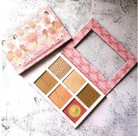 Moji 6 rotulador ruboriza gama de colores Hale et lumiere moji de 6 colores de maquillaje paleta de sombra de ojos rubor .en Stock