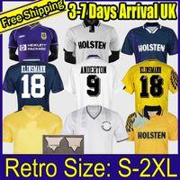 1994 1995 Klinsmann 1990 1998 1999 1991 1982 Retro Gascoigne Anderton Sheringham Tottenham Ginola Ferdinand Soccer Jersey Uniformes centenários