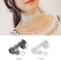 Vintage Black Lace Flower Choker Necklace Bracelet Retro Sexy Gothic Jewelry Set for mon girlfriend gift free shipping