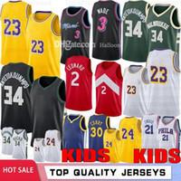 Jovens Crianças Dwayne 3 Wade Hot Basketball Jerseys Stephen 30 Curry 34 Antetokounmpo Kawhi Joel Embiid Simmons Jersey