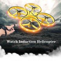 مصغرة rc ووتش بدون طيار ufo infrared التعريفي لفتة الاستشعار هليكوبتر الإلكترونية التحكم عن طائرة quadcopter أطفال اللعب 201125