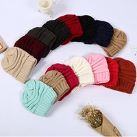 New Winter Trendy Warm Hat Knitted Women Simple Soft Stretch Cable Men Knitted Beanies Hat Beanie Hats Party Hat HH9-3381