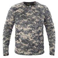 Männer langes Ärmel T-Shirt Taktische Tarnung T-shirts Neuer Frühling Schnell trocken Atmungsaktiv Militär Armee Tops Markenkleidung T-Shirt