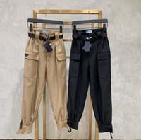 أزياء المرأة الشحن السراويل بدون أحزمة المرأة عارضة السراويل طويل أسود كاكي كول الشارع الشهير مع جيوب الحجم M L XL