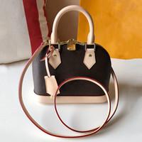 Top-Qualität Alma BB Leder Damier Ebene Handtaschen Umhängetasche Luxus Soul Handtasche Monogrammschale Tasche M53152 Kostenloser Versand! Totes Handtaschen