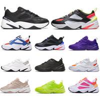 NikeM2KTekno أبي الأزياء والأحذية عالية الجودة النساء الرجال الرجعية مصمم zapatillas أسود أبيض برتقالي عارضة المدربين أحذية رياضية الحجم 36-45