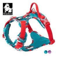 Truelove pas de harnais de chien de tirage de chien Veste nylon réfléchissant moelleux harnais pour animaux de compagnie pour petits gros chiens courir ceinture d'entraînement français Bulldog 201104