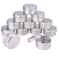 100 unids 5g 10g 15g 20 g 30 g 40 g 50 g 60 g de aluminio tarros de lata metal 50 ml vacío cosmético cara cuidado ojo crema labio bálsamo brillante paquete paquete