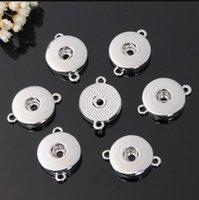 Alliage d'argent 18mm NOOSA Snap Snap Base Interchangeable Accessoires pour Bijoux Snap Bouton Base DIY Bijoux Accessoire