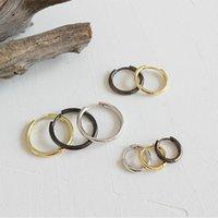 13mm 18mm 23mm Silber Huggies Ohrringe 18K Gold Filled 925 Sterlingsilber Big Kleine runde Bandohrringe täglich Jewely HED248