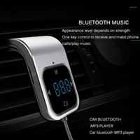 Bluetooth سيارة كيت fm الارسال اللاسلكية راديو محول aux مشغل mp3 معقل مع الحروف اليدوية التحدث المزدوج USB سريع شاحن 1