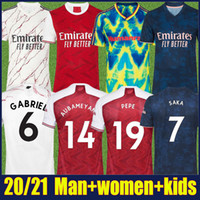 NUOVO 2020 Gunners Soccer Jerseys Home Rosso Away White Marblin Camicia 20/21 FC Gunners Uomo Donna Kit Kit Kit da calcio Jersey Gooners Ars Uniform